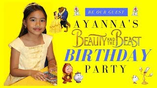 Vlog 16 Aya 39 S Beauty And The Beast Themed Birthday Party