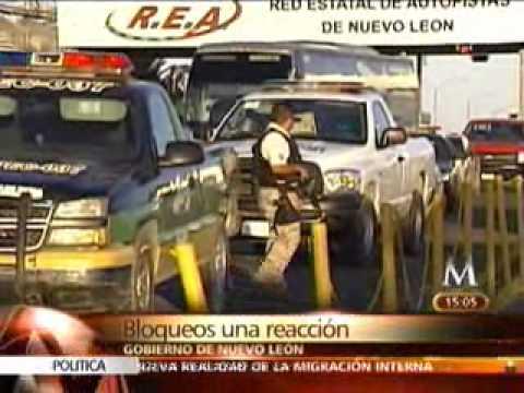 Bloqueos en Monterrey, acto desesperado del narco.