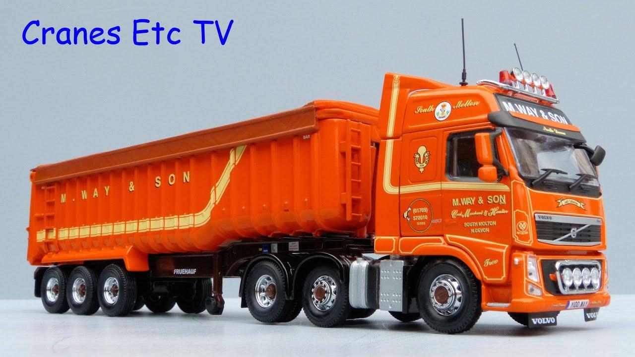 Corgi Volvo FH Tractor + Fruehauf Tipper 'M Way & Son' by Cranes Etc TV - YouTube