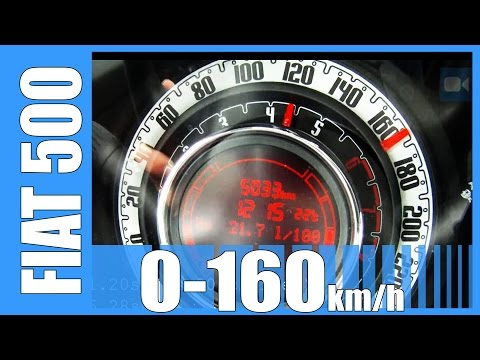2013 Fiat 500 TwinAir NICE! 0-165 km/h Acceleration