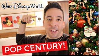 TRAVEL VLOG: Christmas Decorations at Disney's Pop Century Resort!