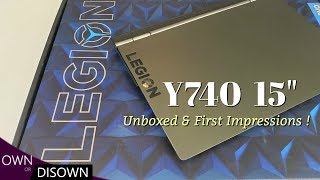 """Lenovo Legion Y740  15""""  unboxed and first impresions !"""