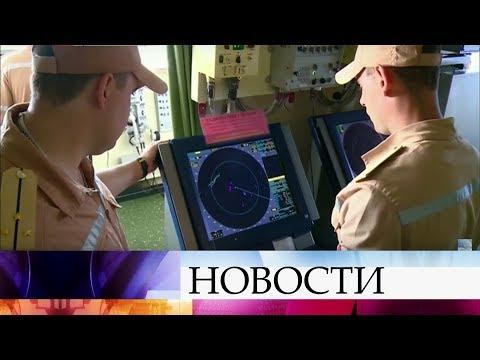 Корабли ВМФ России нанесли ракетный удар попозициям боевиков ИГИЛ всирийской провинции Хама.
