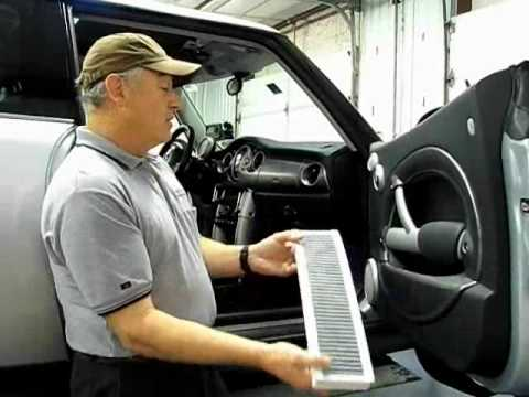 MINI Cooper Cabin Air Filter Removal and Replacement