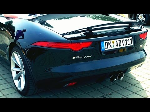 Jaguar F Type S Sound Revving Convertible revs Exhaust Cabrio
