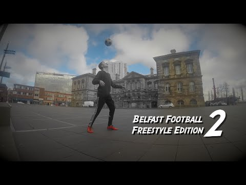 Watch freestyle footballer shows off skills all over Belfast