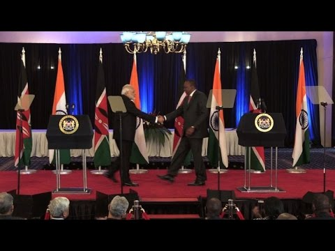 Indian PM Modi in Kenya as part of five-day African tour
