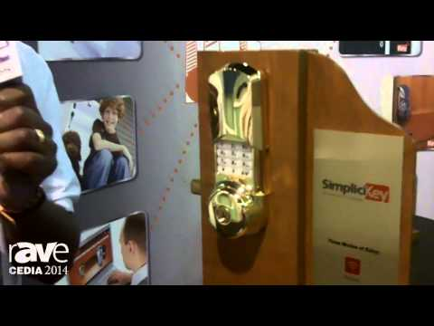 CEDIA 2014: SimpliKey Demonstrates Its Remote Control Electronic Deadbolt With Hidden Keypad