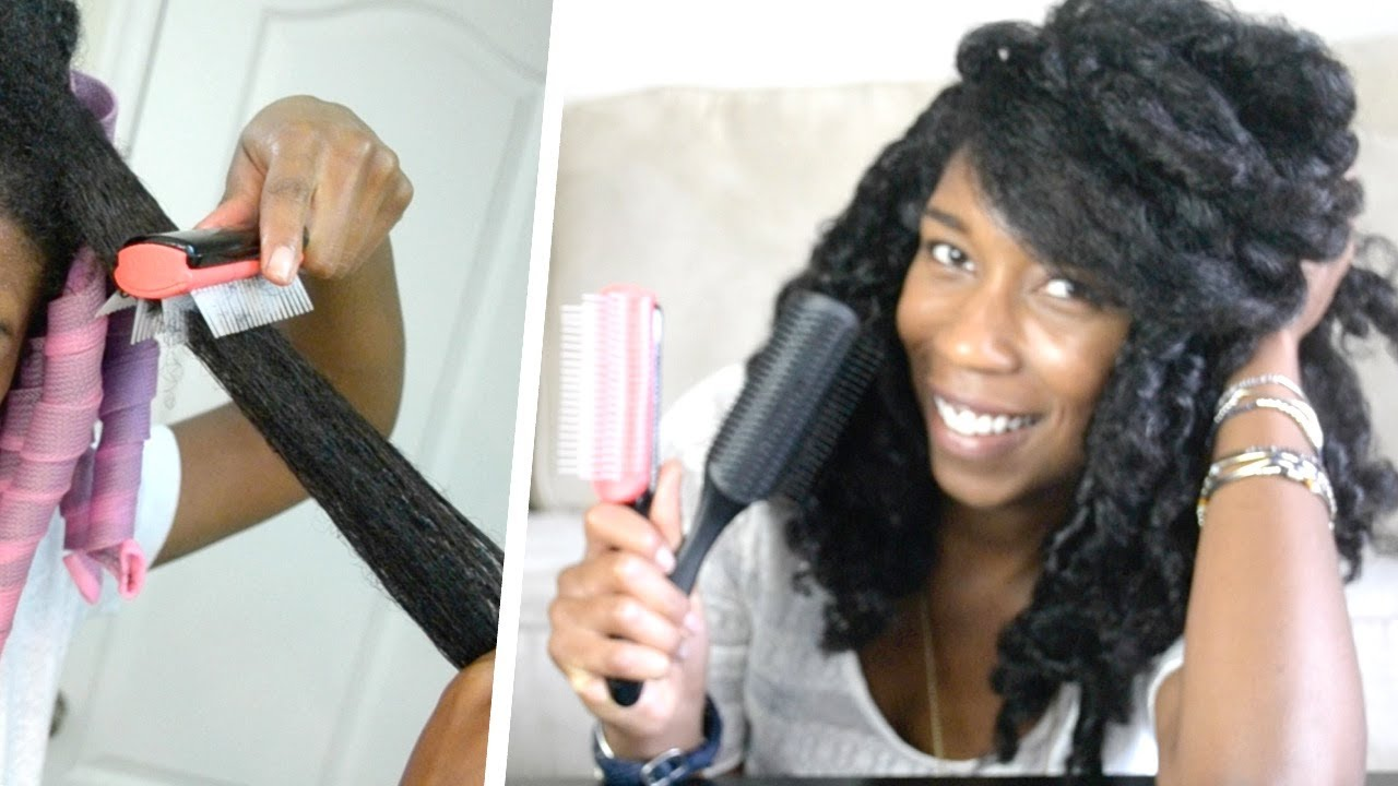 Detangling brushes for natural hair