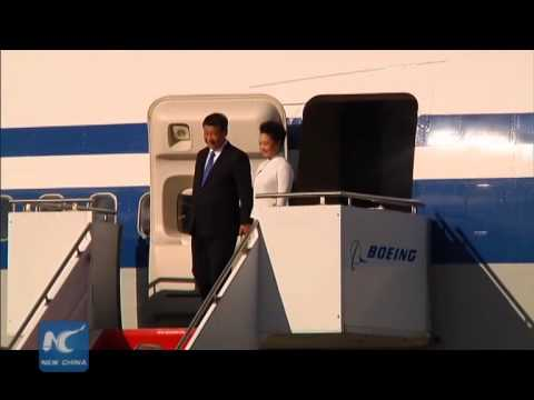 President Xi Jinping lands in Seattle, kicking off U.S. state visit