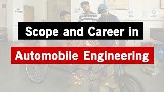 Scope of Automobile Engineering   Careers in AutoMobile Engineering