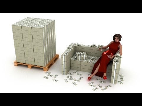 US Debt - Visualized in physical $100 bills