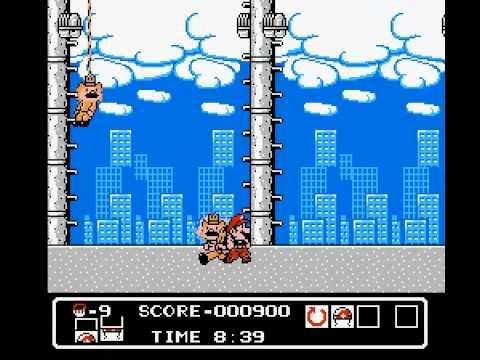 Weird Pirated Games: Super Mario Bros: Mali Boss (Hammerin' Harry hack) NES