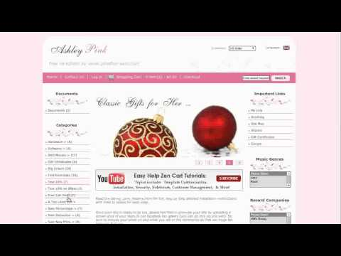 0 Easy Help Zen Cart Virtual Tour: Ashley Pink Free Template