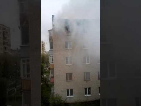 Пожар в Ворсино - YouTube