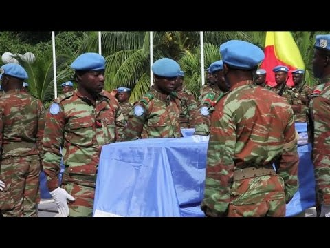 UN peacekeeping forces bury nine comrades fallen in Mali