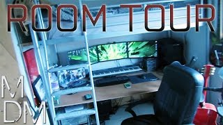 Epic Room Tour - Triple Monitor Gaming Setup, Home Music Studio and Airsoft Gear