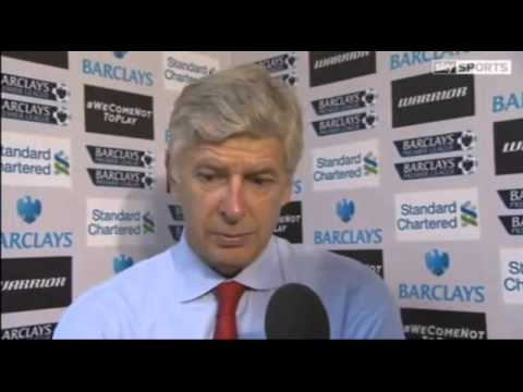 Liverpool vs Arsenal 2-0 Arsene Wenger Interview 02/09/12