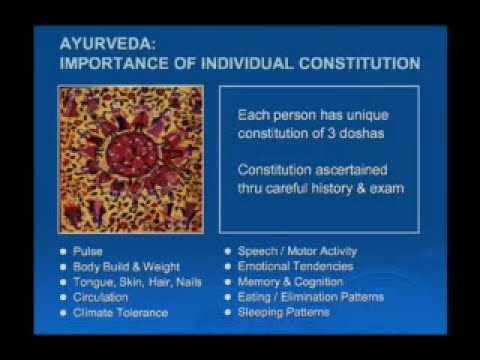 Complementary and Alternative Medicine: Ayurvedic Medicine