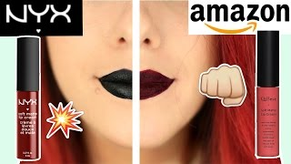 AMAZON 1€ Liquid Lipsticks I ORIGINAL VS FAKE I LIVE TEST! Luisacrashion
