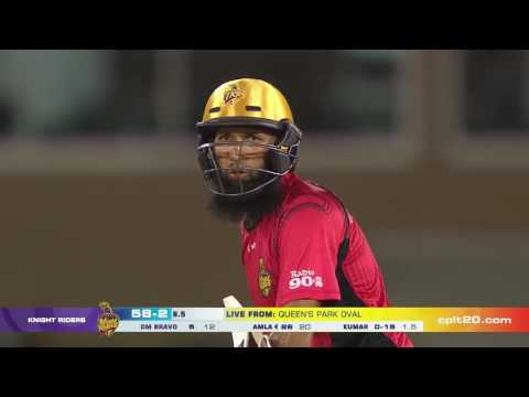 Six and out for Hashim Amla