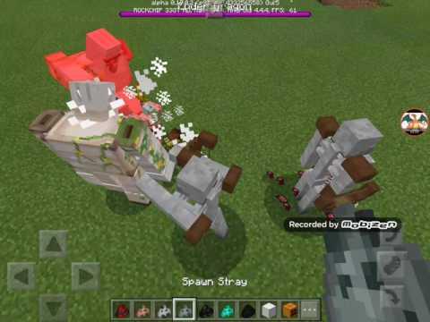 Minecraft PE | Mutant Iron Golem VS Mutant Enderman And Godzilla