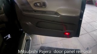 Mitsubishi Pajero  door panel removal