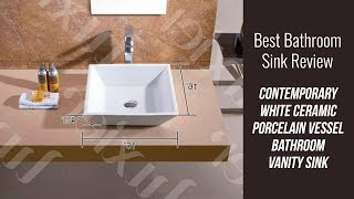 Contemporary Ceramic Sink Review - Contemporary White Ceramic Porcelain Vessel Bathroom Vanity Sink