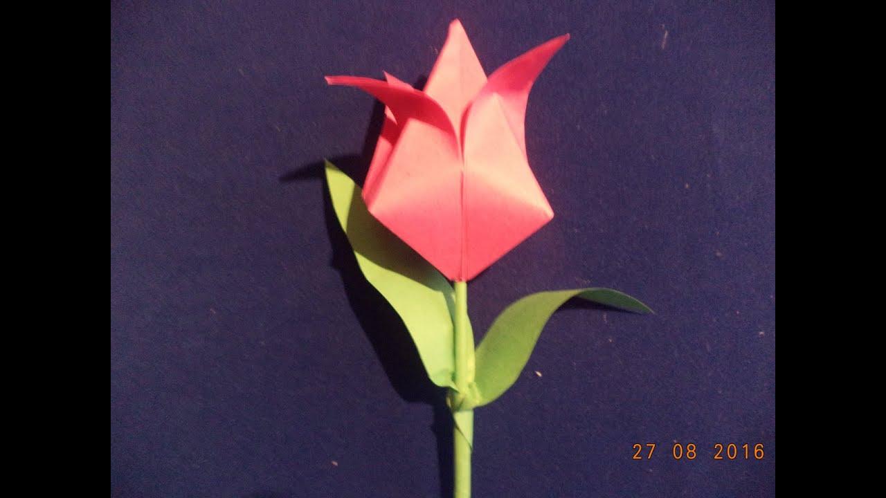 Как сделать из бумаги тюльпан своими руками фото