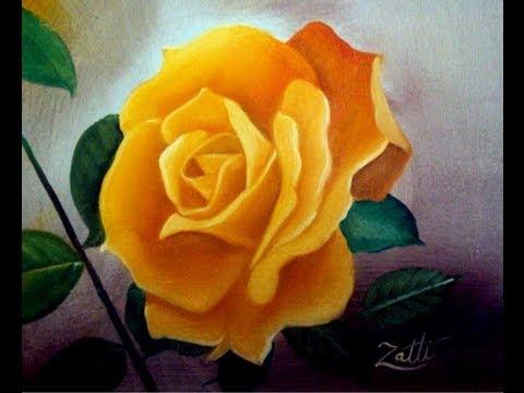 Como pintar uma rosa youtube - Como pintar sobre tela ...