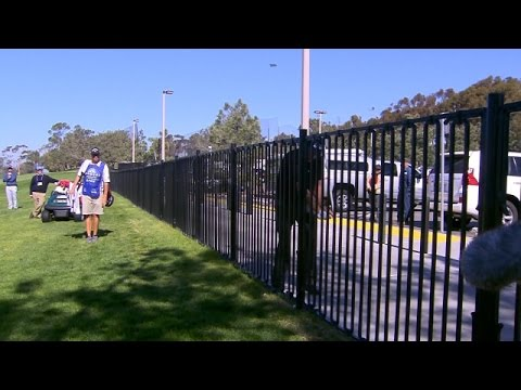 Phil Mickelson's fence encounter at Farmers Insurance Open