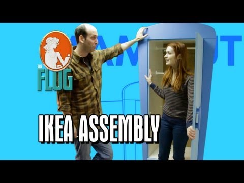 Felicia Day & Jeff Lewis Assemble an Ikea Wardrobe!