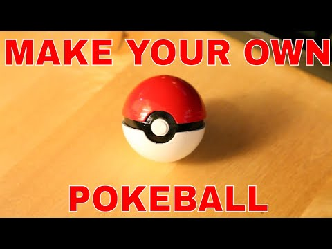 Custom Pokemon Pokeball printed on Ultimaker 3D printer - Painted, Sanded & Finished