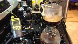 Simplified Stove-Top Siphon Coffee Brew - Test Run