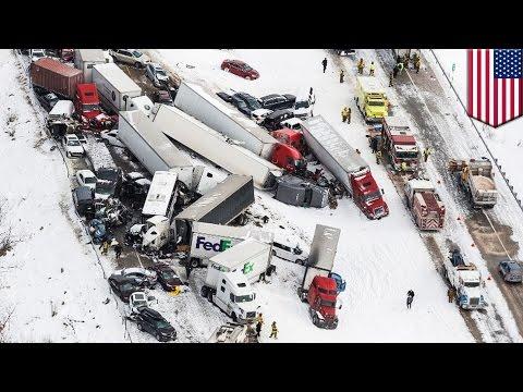 Deadly pileup: Three dead in 50-vehicle pileup on snowy Pennsylvania interstate - TomoNews