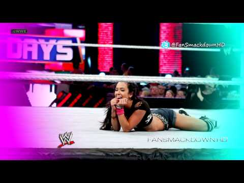 20112013: AJ Lee 4th WWE Theme Song - Lets Light It Up (WWE-...