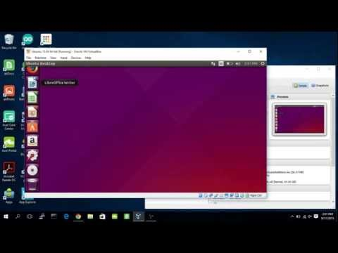 Install Ubuntu 15.04 on Windows 10/VirtualBox