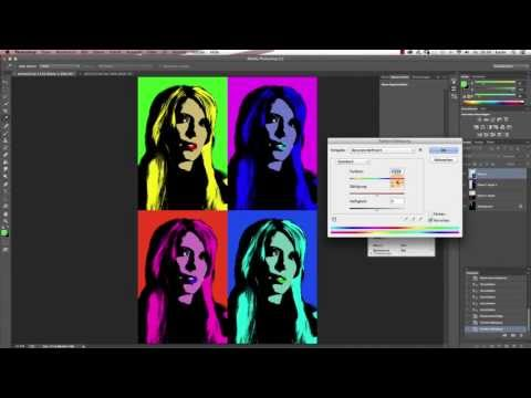 "Photoshop Tutorial: ""Der Andy Warhol Effekt"""