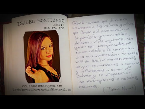 Isabel Montijano actriz. VIDEOBOOK