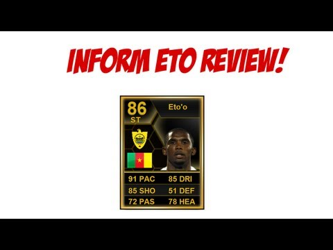 FIFA 13 Ultimate Team - 86 IF Eto'o Review - Gameplay & Thoughts