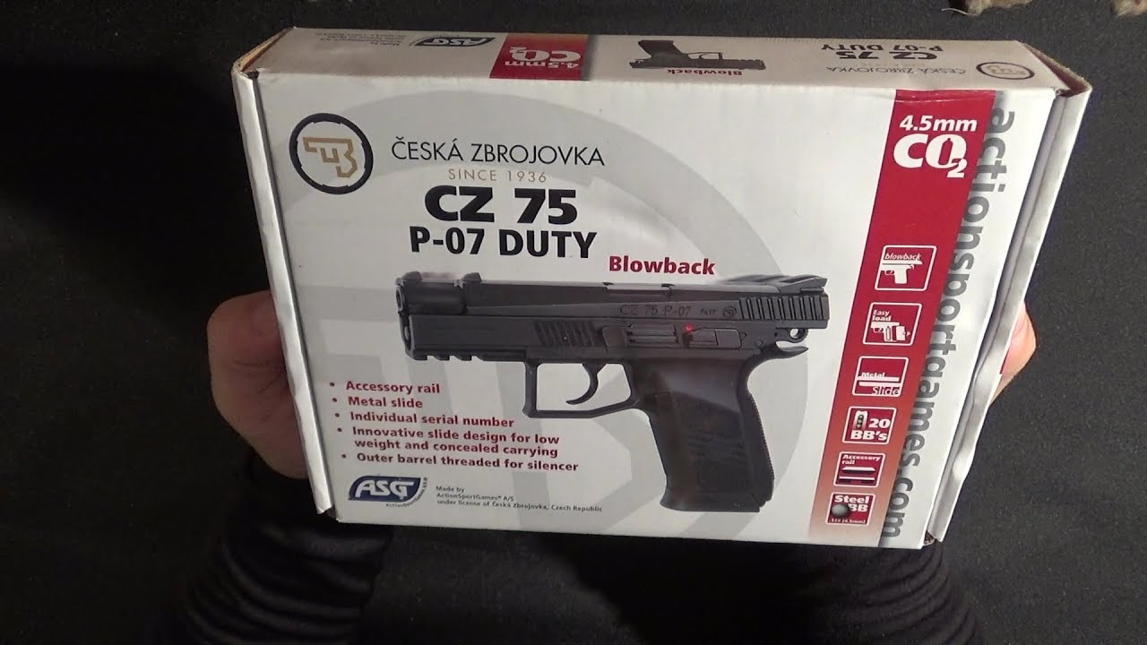 CZ P07 BB Gun ASG Replica review and shooting