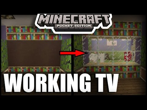 How To Make Working 3D TV ( Television) in minecraft pe   mcpe ( minecraft pocket edition ) tricks