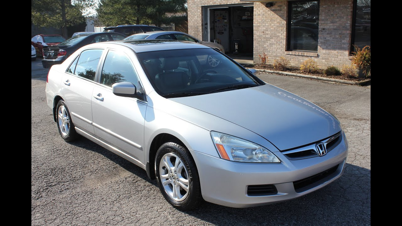 Used 2006 Honda Accord Ex L Silver Leather Sunroof For
