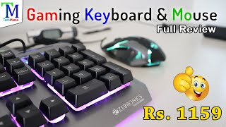 Best Gaming Keyboard and Mouse Combo with LED in Rs. 1159 Watch Full Review..