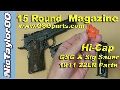 GSG / Sig Sauer 1911 22LR Pistol (15 Round  Magazine Assembly)