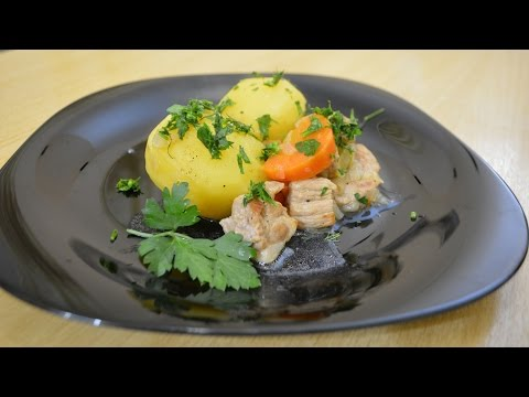 Тушёная картошка с мясом (жаркое из свинины )