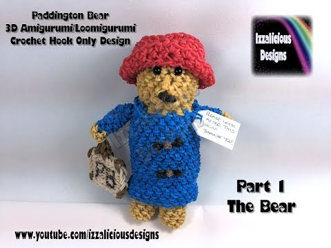 Amigurumi Paddington Bear : Cute Playful Kitty Cats Loomigurumi Tutorial Rainbow Loom ...