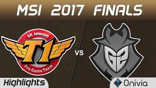 SKT vs G2 Highlights Game 1 MSI 2017 Finals SK Telecom T1 vs G2 Esports by Onivia