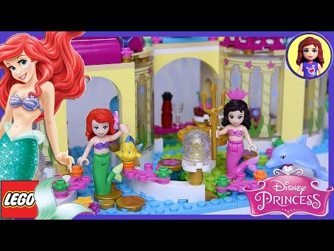 Ariel's Undersea Palace Little Mermaid Lego Disney Princess Build Review Play   Kids Toys
