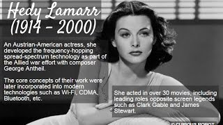 Hedy Lamarr: Austrian and American film actress and inventor